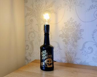 Dead Man's Fingers Rum Bottle Table Lamp