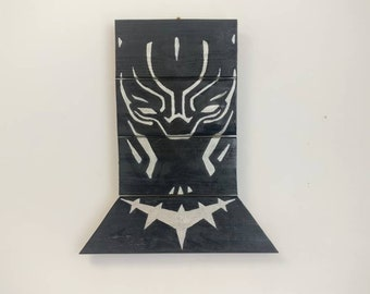 Black Panther Wooden Wall Art Hanging - Birthday, Christmas Gift/Present
