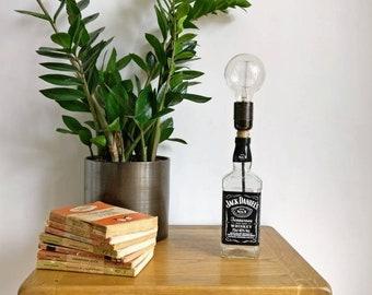 Upcycled Jack Daniels Bottle Table Lamp