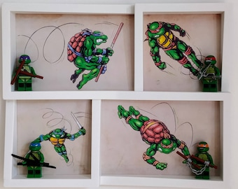 Teenage Mutant Ninja Turtles, Fan Art Mini Figure Frame