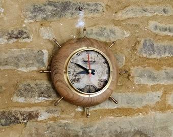Vintage Barometer Clock