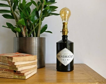 Hendrick's Gin Table Lamp, Wedding Gift, Christmas Gift, Gin Gift