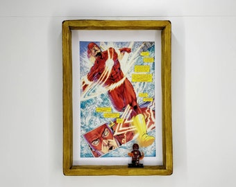 The Flash Comic Strips Fan Art Figure Frame