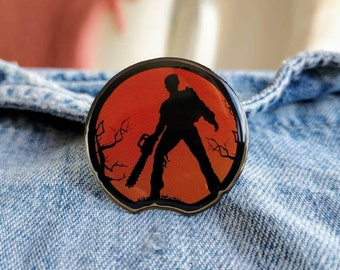Evil Dead, Ash Silhouette, Army of Darkness Pin/Badge