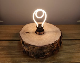 Log slice lamp