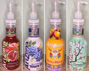 Upcycled AriZona Iced Tea Soap Dispenser