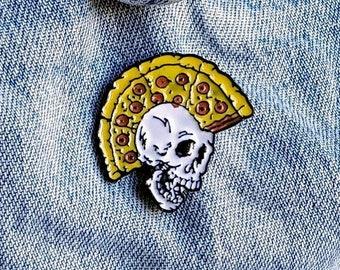 Pizza Skull Pin/Badge