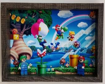 Mario and Luigi, Fan Art Mini Figure Frame