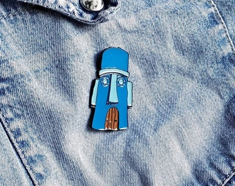 Squidward Easter Island House Pin / Badge
