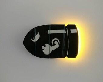 Bullet Bill, Super Mario Bros. Wooden Light