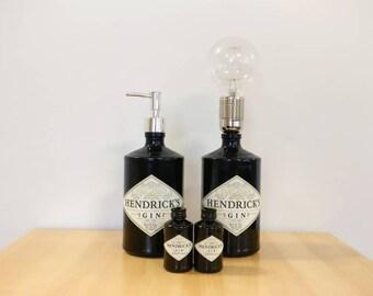 Hendrick's Gift Set - Soap Dispenser, Lamp and Salt & Pepper Shakers - Wedding / Housewarming / Birthday / Couple Gift