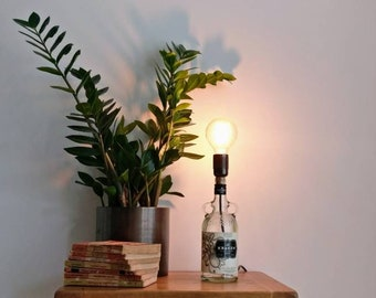Upcycled Kraken Rum Bottle Table Lamp