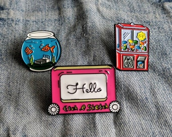 Childhood, Kids, Nostalgic Pin/Badge