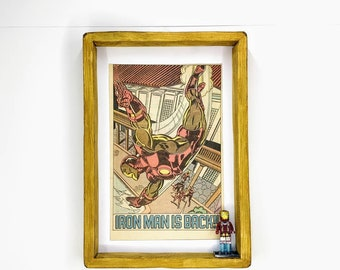 Iron Man Comic Strip Advert Figure Frame