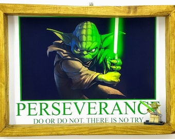 Yoda Motivational Fan Art Figure Frame