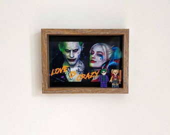 Harley Quinn and The Joker, Fan Art Mini Figure Frame