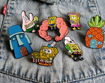 Spongebob, Patrick, Under the Sea Pin / Badge