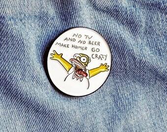 Crazy Homer Pin/Badge