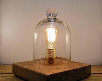 Glass Bell Jar Edison Lamp - UK