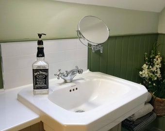 Jack Daniels No 7 Whiskey Bottle Soap Dispenser, Upcycled Gift - UK