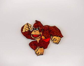 Donkey Kong, Wooden Wall Art Hanging - Birthday, Christmas Gift/Present