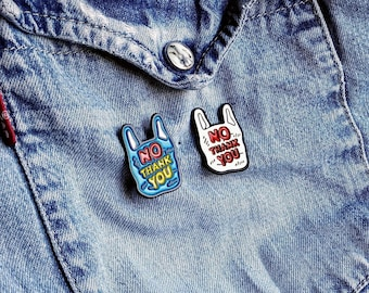 Plastic Free Shopping Pin/Badge