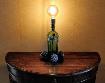 Upcycled Tanqueray No. Ten Gin Bottle Table Lamp