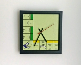 Vintage Monopoly Clock