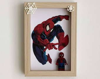 Spiderman, Fan Art Mini Figure Frame