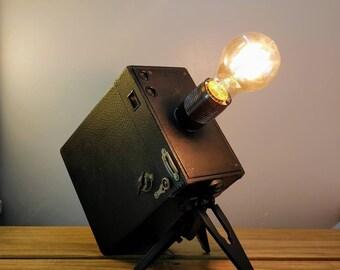 Vintage Box Camera Lamp