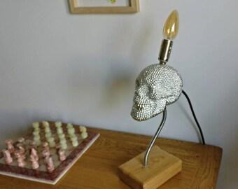 Steampunk Crystal Skull Lamp