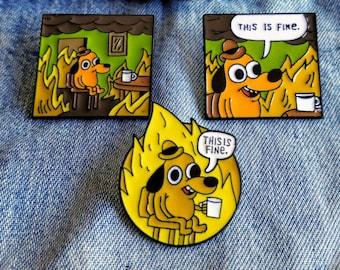 Room on Fire Meme Pin/Badge