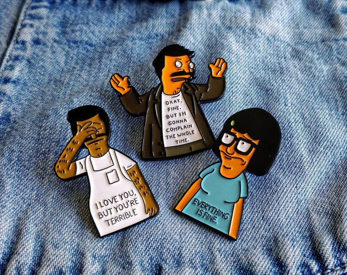 Featured listing image: Bob Belcher, Tina, Bob's Burgers Pin/Badge