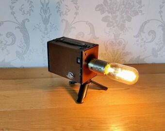 RARE Vintage Kodak leather Box Brownie Camera Lamp