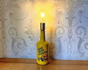 Dead Man's Fingers Rum Yellow Bottle Table Lamp