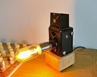 Vintage 1930s Box Camera Lamp