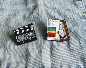 Movie Quotes, VHS Pin/Badge