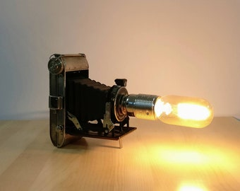 Vintage Bellows Camera Lamp