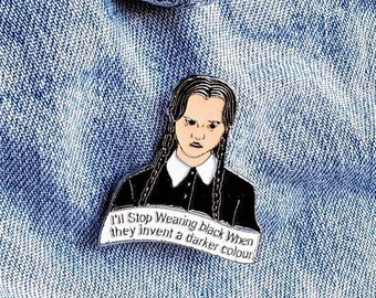 Addams Family, Wednesday, Pin/Badge