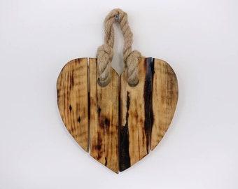 Hanging Burnt Decorative Heart