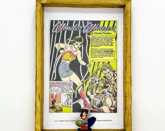 Wonder Woman Comic Strip Fan Art Figure Frame