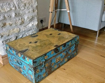 Antique Travelling Metal Chest