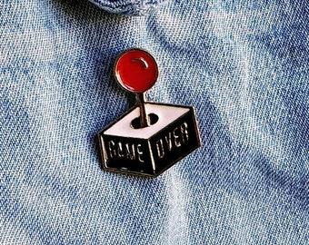 Game Over Joystick Pin/Badge
