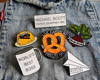 World's Best Boss, Dunder Mifflin, The Office Pin/Badge
