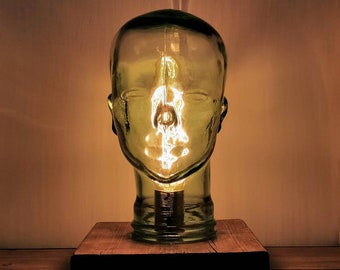 Statement Mannequin Glass Crystal Head Edison Lamp Light- UK