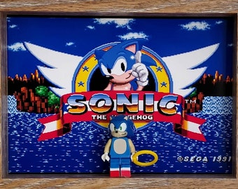 Sonic, Fan Art Mini Figure Frame