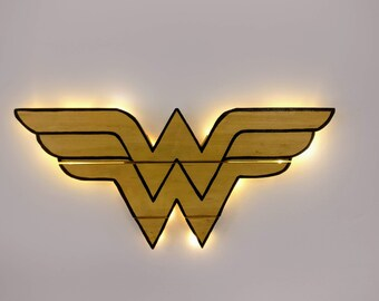 Wonder Woman Wooden Wall Art Hanging - Birthday, Christmas Gift/Present
