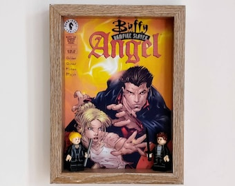 Buffy and Angel, Fan Art Mini Figure Frame