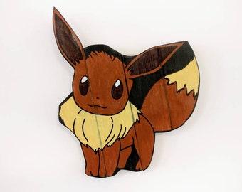 Eevee Pokemon Wooden Wall Art Hanging - Birthday, Christmas Gift/Present