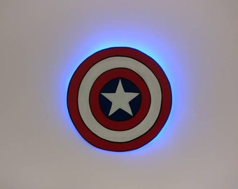 Captain America Wooden Wall Art Hanging - Birthday, Christmas Gift/Present